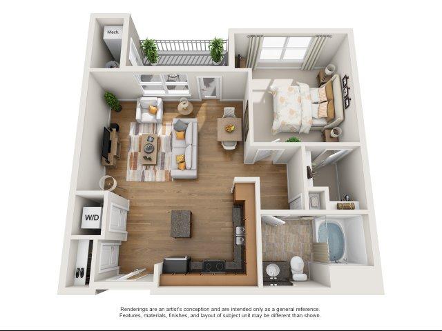 1 bedroom, 1 bathroom apartment Williamsburg, VA