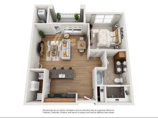 One bedroom apartment for rent Williamsburg, VA