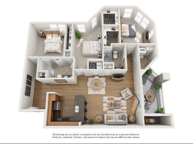 Luxury apartments williamsburg va aura at quarterpath - Bathroom remodeling williamsburg va ...