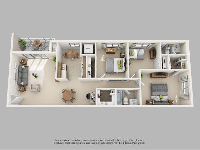 3 Bedroom, 1.5 Bathroom