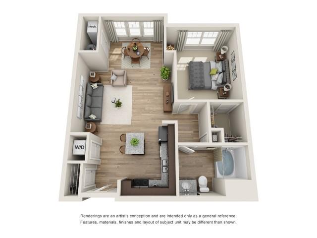 1 bedroom, 1 bathroom apartment for rent Hampton, VA