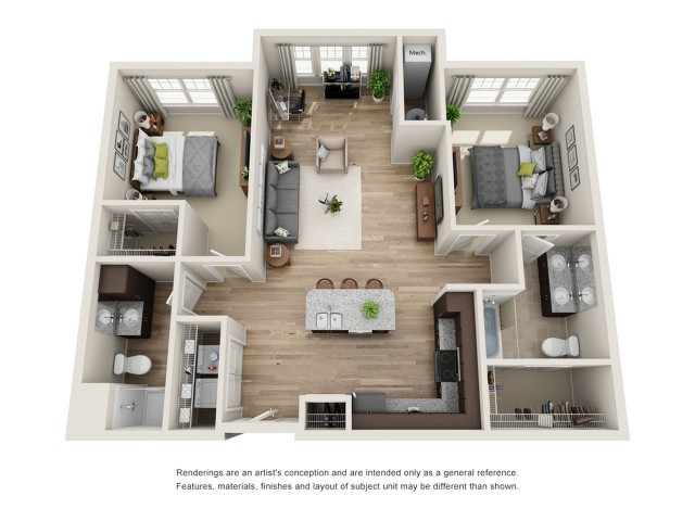2 bedroom 2 bathroom apartment for rent hampton va - Two Bedroom Apartment