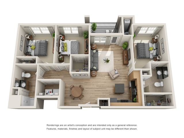 Wondrous 3 Bed 2 Bath Apartment In Hampton Va Pinnacle Apartments Interior Design Ideas Jittwwsoteloinfo