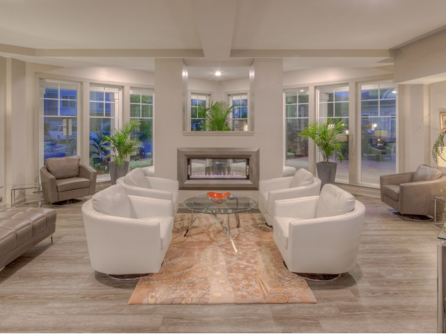 Image of Clubroom Fireplace Lounge for CovePointe at the Landings