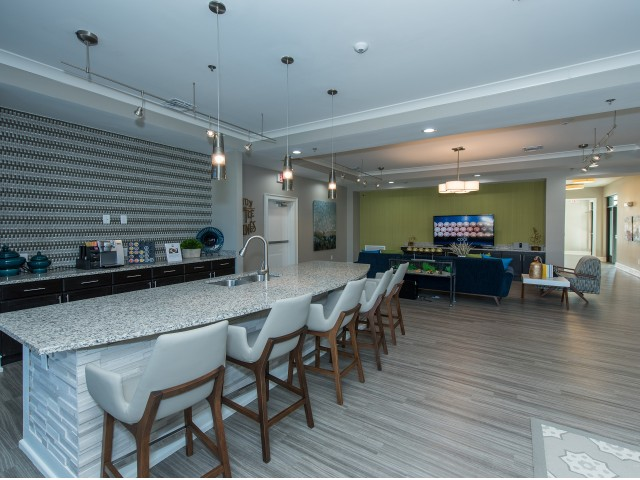 Image of Clubhouse with Bar and Large Screen TVs for Nexus at Sandhill