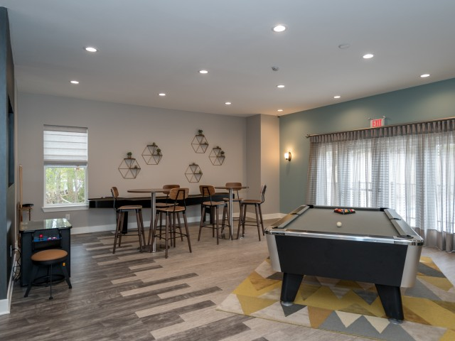Image of Billiards Table, Shuffle Board, Pac-Man for Elevations One