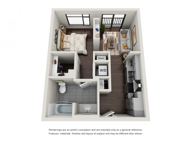 Studio Floorplan | The Edge at 450