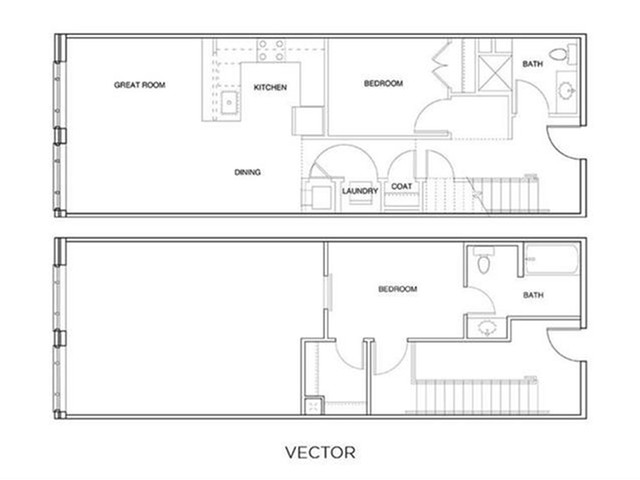 2 Bedroom Loft Floor Plan | The Edge at 450