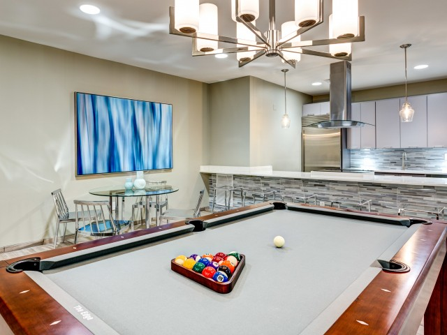 Image of Resident Clubroom with Catering Kitchen for Aura Downtown