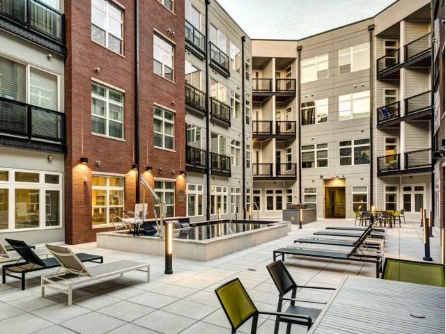 Image of Poolside Grilling Area with Courtyard for Aura Downtown