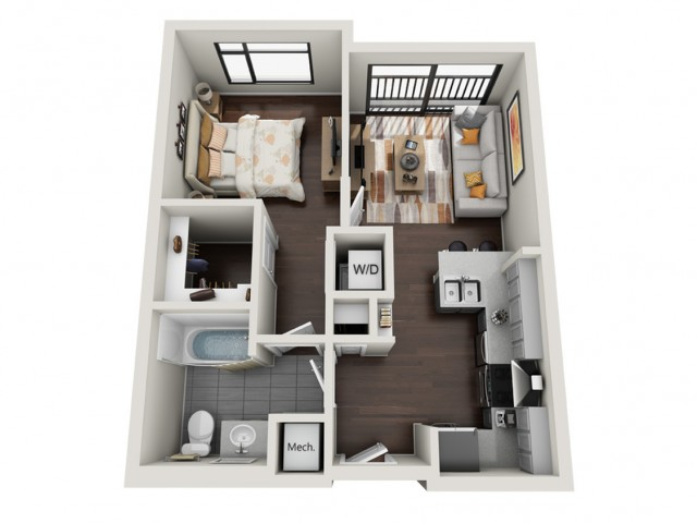 1 Bedroom Floor Plan | The Edge a 450