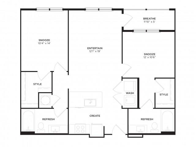 B1-ALT1 Floor Plan