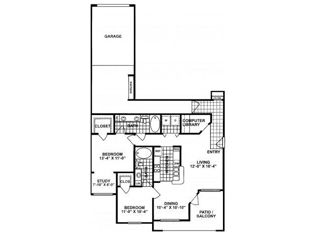 2x2 E Floorplan