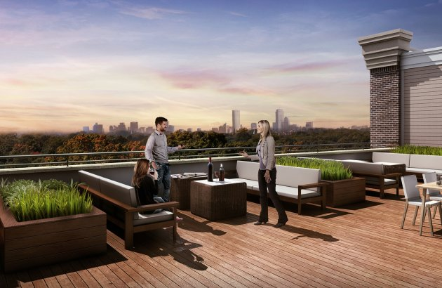 Enjoy a roof top deck, fitness center, billiards room, lounge and more