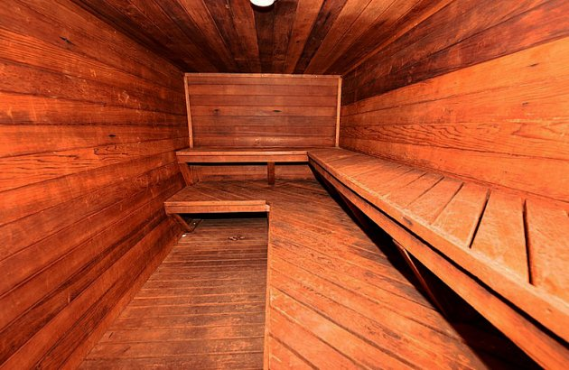 Treat yourself to time in the sauna after a workout or just to relax