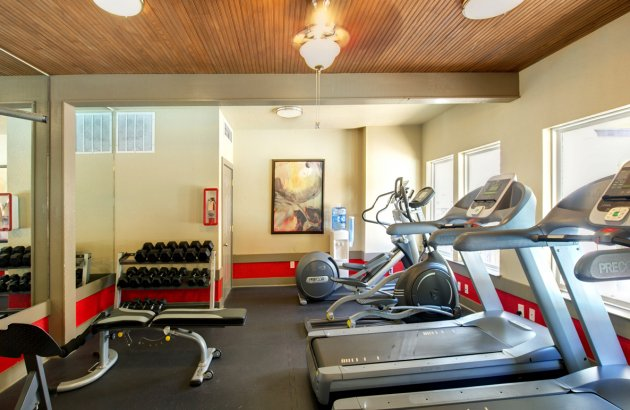 The community fitness center is open 24 hours/day so you can always fit in your workout