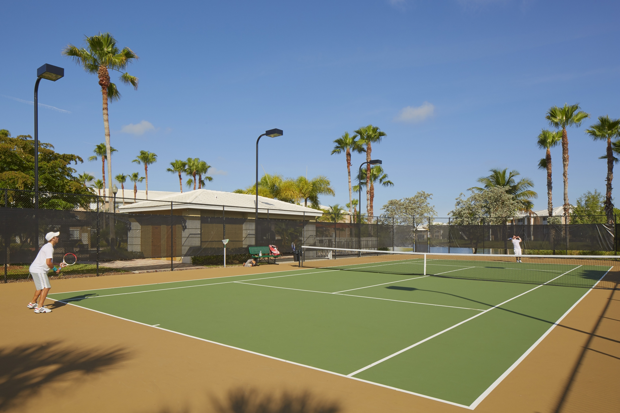 Tennis Court | Promenade at Reflection Lakes apartment amenities | FL apartments