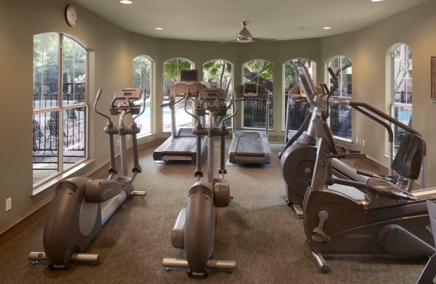 Get fit with access to the community 24 hr fitness center, basketball court and pool
