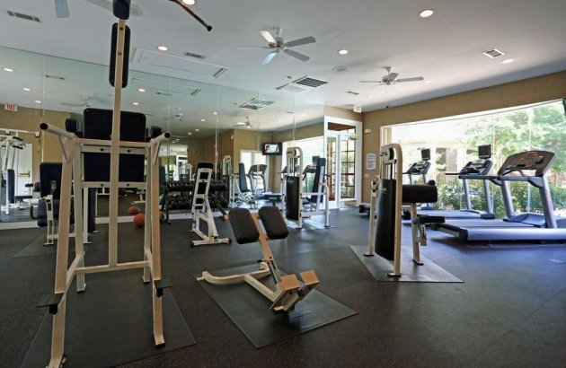 Get fit with access to the community's 24 hour fitness center