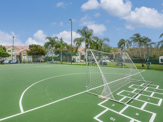Sport Court with soccer nets at Royal St George