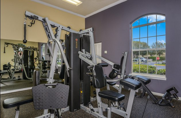 It's easy to fit in a visit to the gym with the community's 24 hour Fitness Center