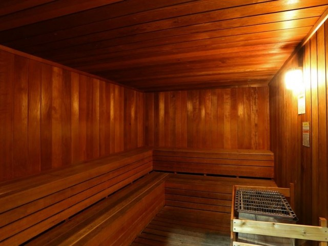 Sauna | Via Lugano fitness center | Apartment community amenities