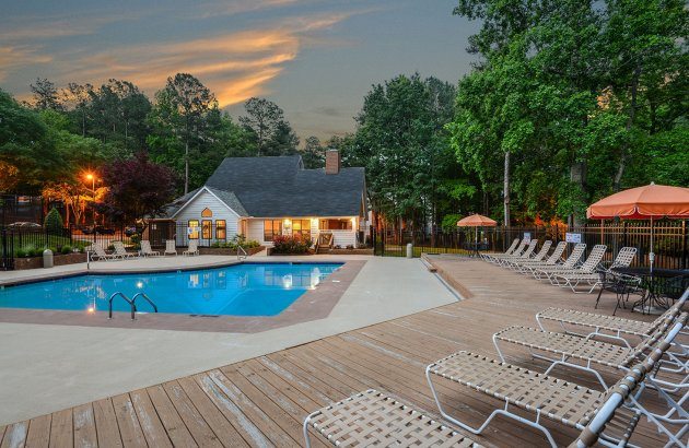 Go for a swim or relax on the sundeck at the community's large pool