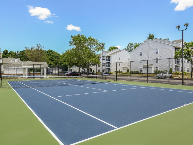 Tennis court at The Pavilions