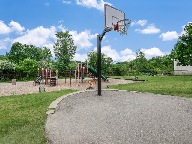 Fountainhead apartments with basketball
