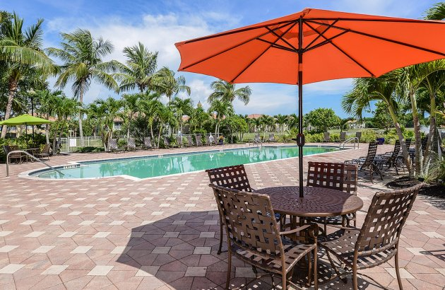 Have access to a 24 hour fitness center, heated pool, game room, tv room, and more