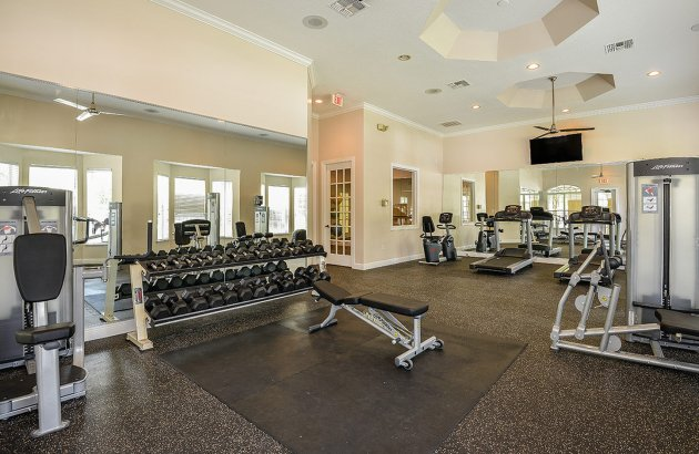 Get moving in the fitness center or basketball and volleyball courts