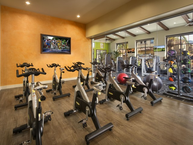 Cycling studio | Apartment fitness center | Villas at San Dorado in Tucson AZ