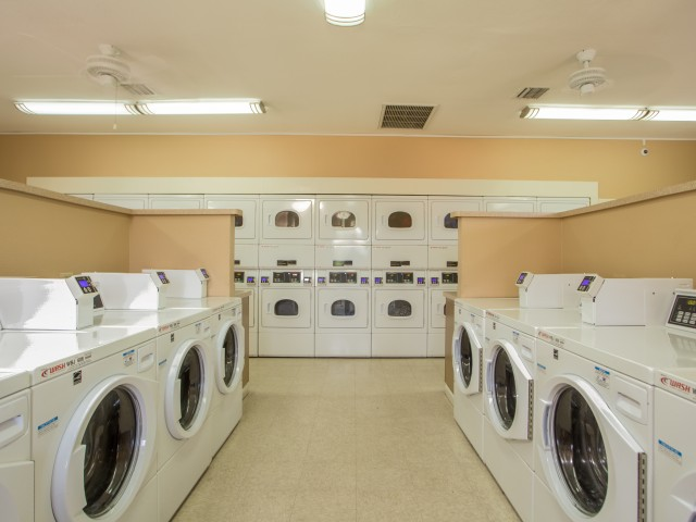 Laundry room | washers and dryers | Promontory apartment homes | Tucson