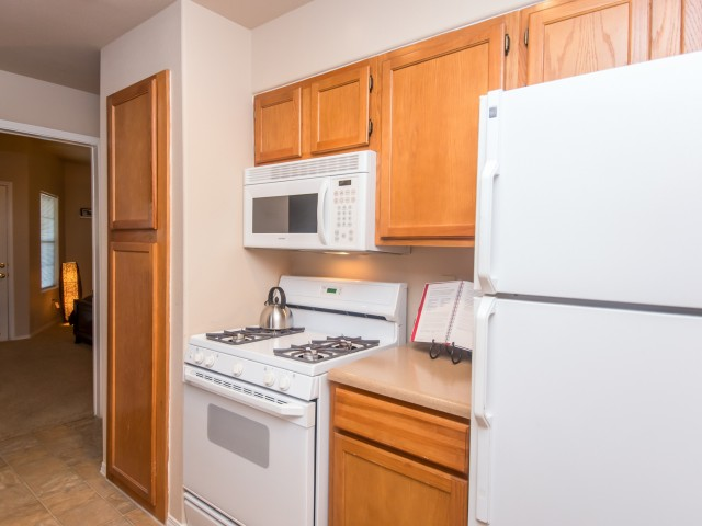 Kitchen with built-in microwave | Austin TX apartments