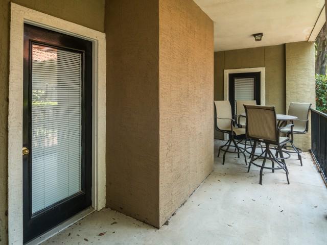 Private balcony | Austin apartments | Madison at Scofield Farms