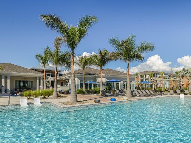 Echo Lake apartments with luxury pool