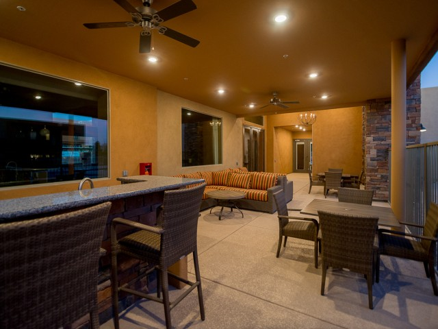 Image of Outdoor Lounge with Wetbar & Seating for Pima Canyon