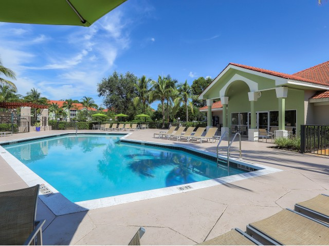 Apartment community pool | Monterra at Bonita Springs