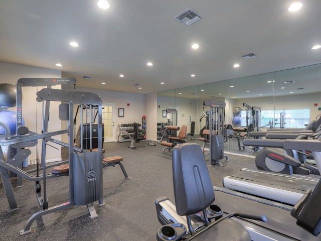 Apartment gym | Cardio equipment | weight equipment | Monterra at Bonita Springs
