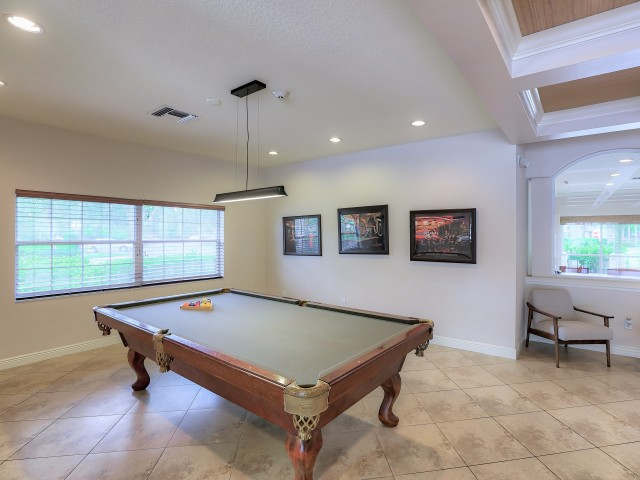 billiards table | apartment community clubhouse