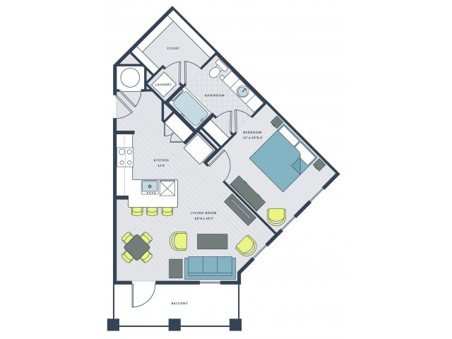 1 bedroom , 1 bathroom - Robb\'s Mill floor plan