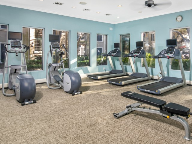 Apartment gym | Cardio equipment | The Park at Monterey Oaks