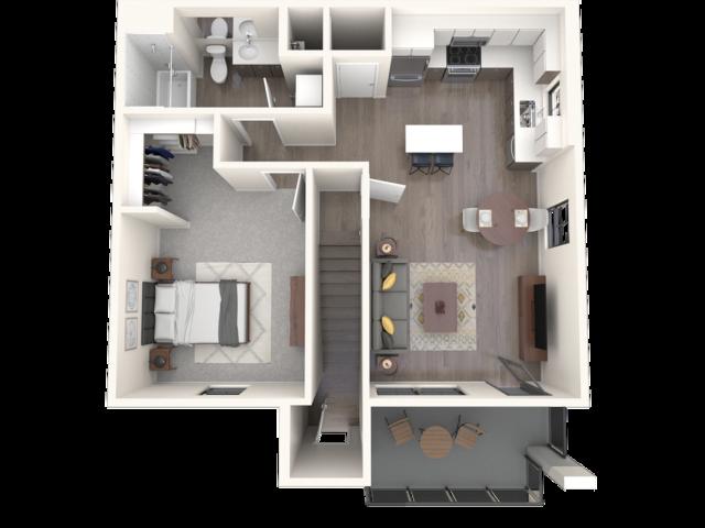 Sandia floor plan 3D image