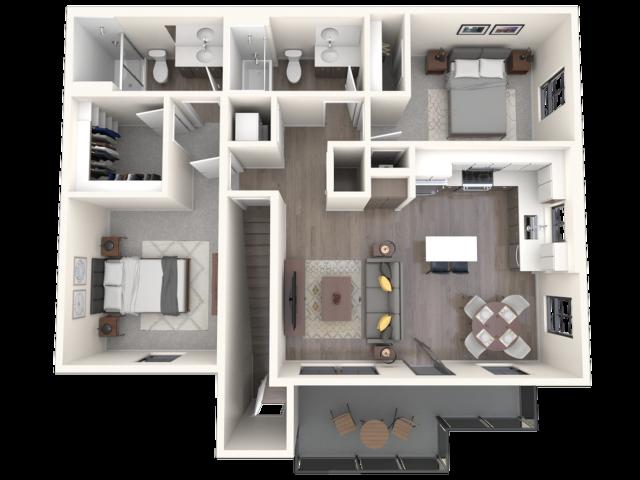 Capitan 3D floor plan