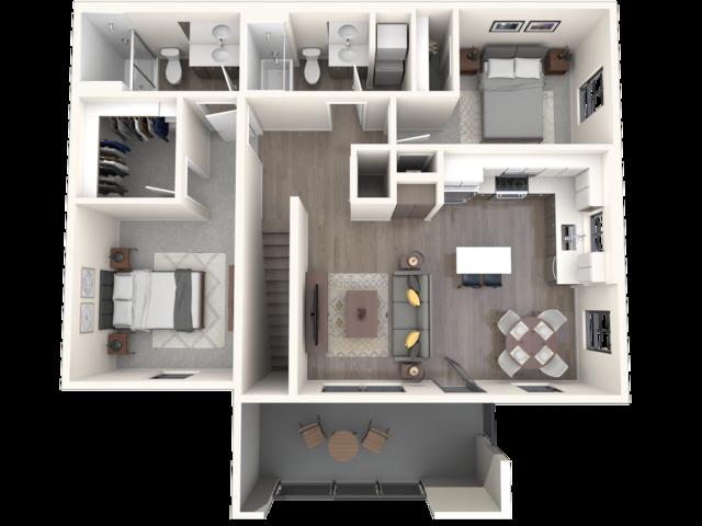 San Mateo 3D floor plan