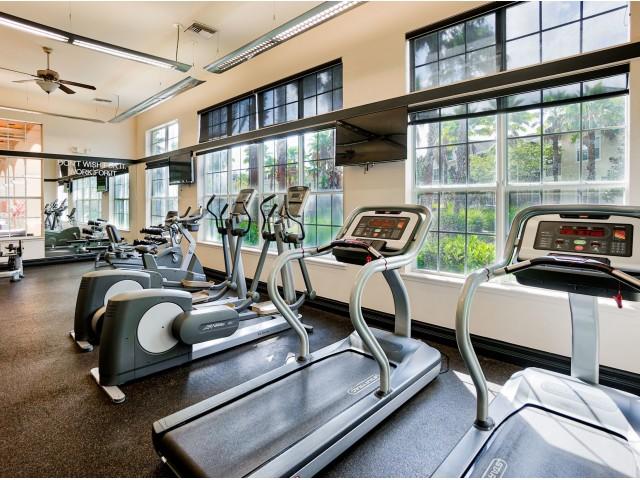 Fitness center at Estates at Heathbrook