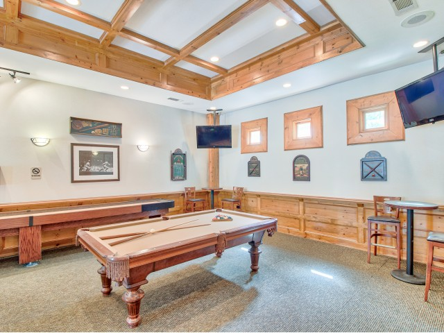 Clubhouse game room | Lodge at Lakeline apartments