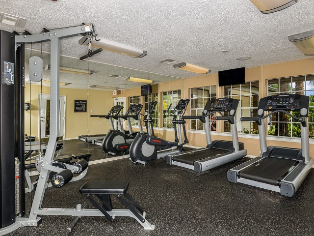 Fitness center at Caribbean Isle