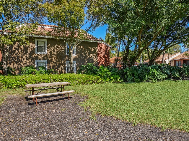 Picnic table at Village Place apartments