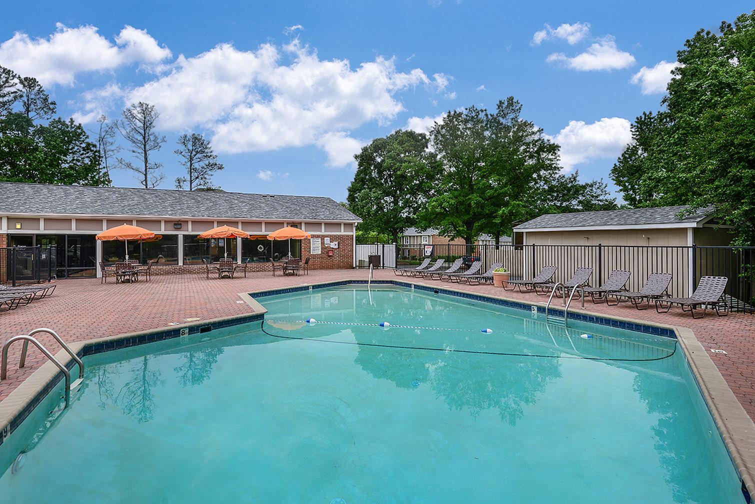 Apartment complex pool   Randolph Park, Charlotte NC